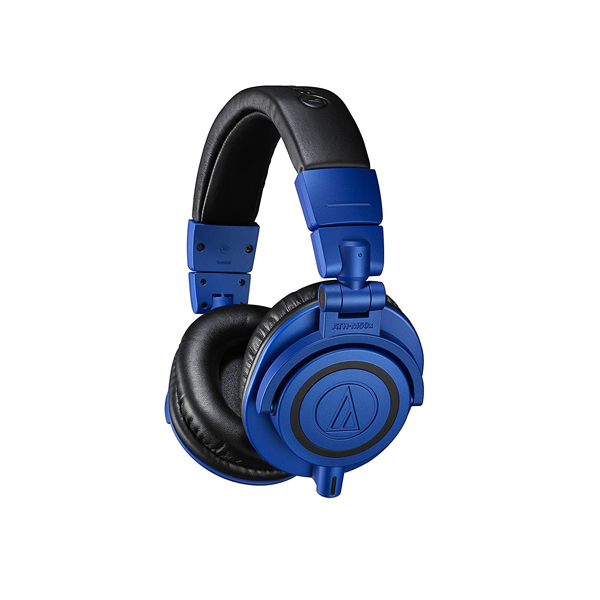 Audio-Technica ATH-M50X Professional Studio Monitor Headphones (Blue)