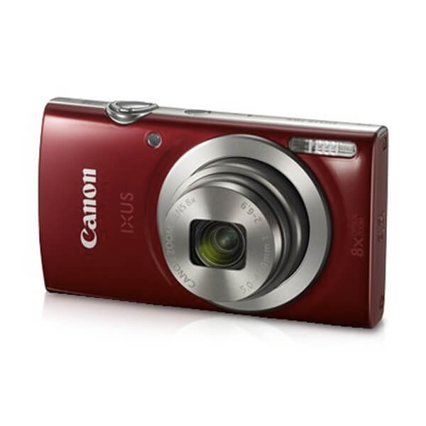Canon IXUS 185 20MP Digital Camera with 8x Optical Zoom (Red) + 8GB Memory Card + Camera Case