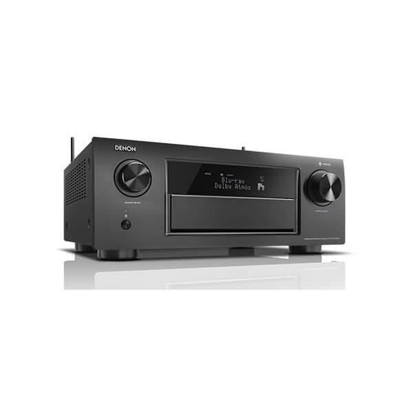 Denon AVRX6400H 11.2 Channel Full 4K Ultra HD Network AV Receiver HEOS Black, Works Alexa