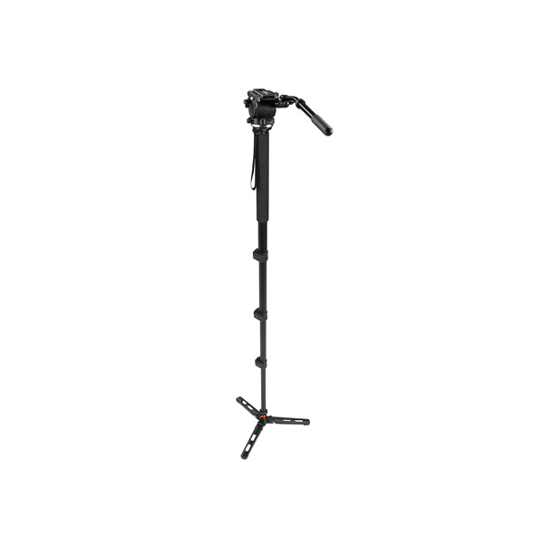 E-Image MA-70S 6ft Handheld Multi Function Aluminum Fluid Video Monopod with EI02H Head for DSLR Cameras