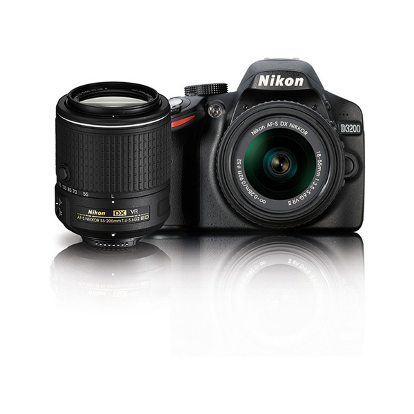 Nikon D3200 DSLR Camera with 18-55mm and 55-200mm Lens