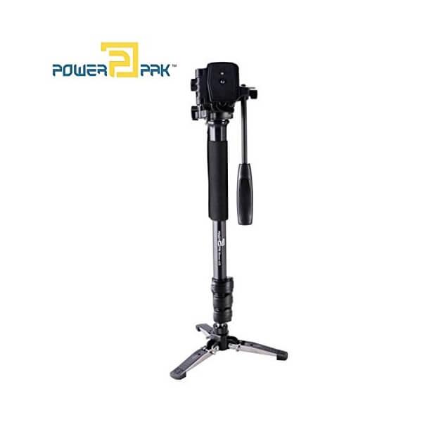 PowerPak Mono-x10 Monopod 4.8ft Three leg 360 Degree Rotatable with Head