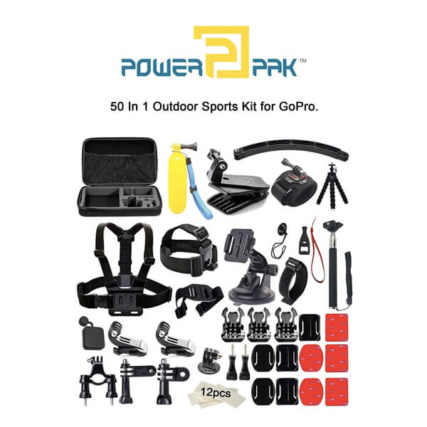 Powerpak Outdoor Sports Essentials Kit for Action Camera (50 in 1)