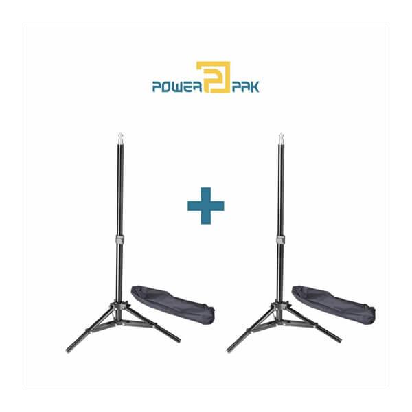 Powerpak WT-801 2 Pcs Set 2.3ft Flash Light Slider Lamp Holder With Carry Bag