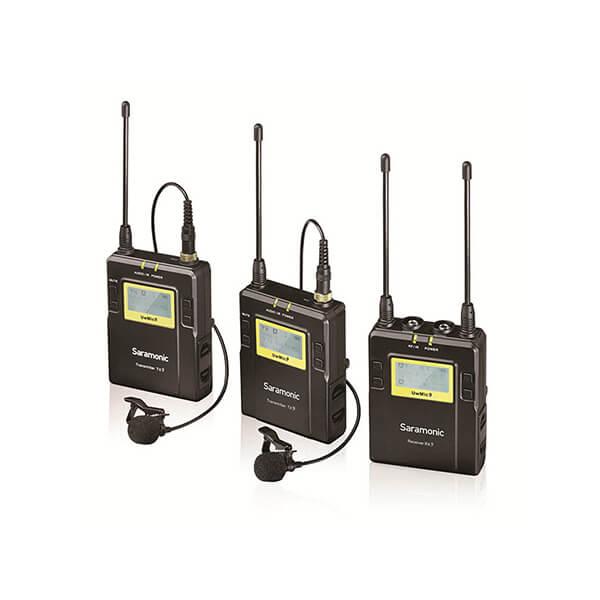 Saramonic RX9+TX9+TX9 UHF Wireless Lavalier Microphone System (Black)