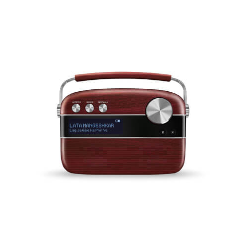 Saregama Carvaan SC03 Portable Digital Music Player (Cherrywood Red)