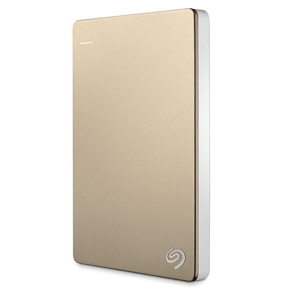 Seagate 2TB Backup Plus Slim Portable External USB 3.0 Hard Drive (Gold)