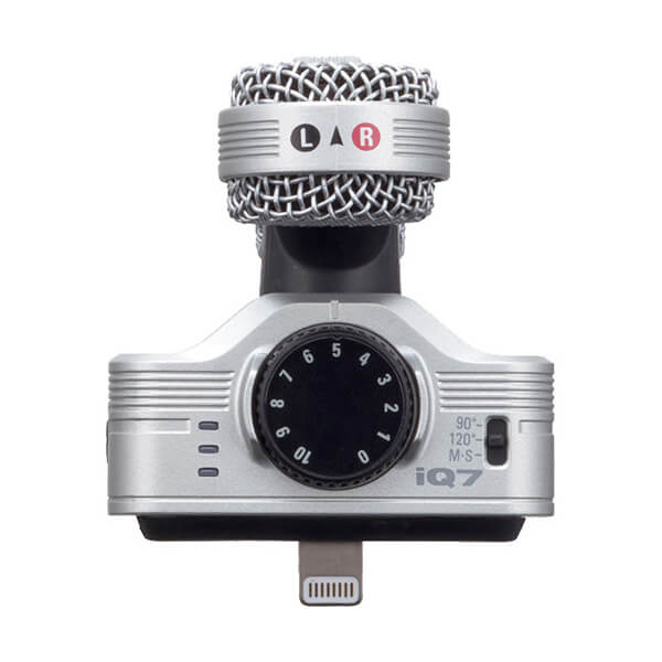 Zoom Mid-Side Stereo Microphone for iOS Devices with Lightning Connector - iQ7