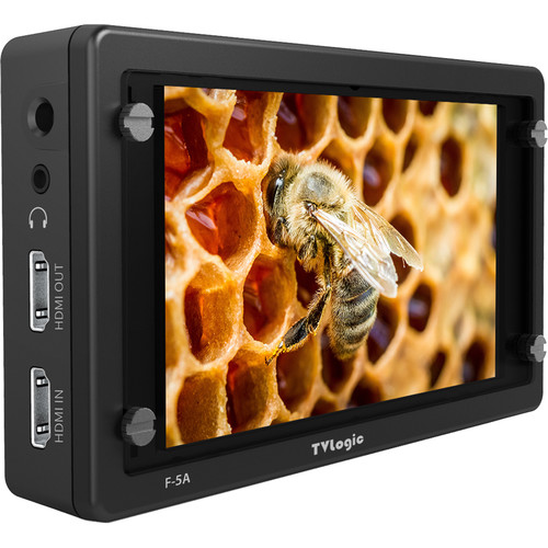 "TVLogic F-5A 5.5"" IPS On-Camera Monitor with L-Series Type Plate"