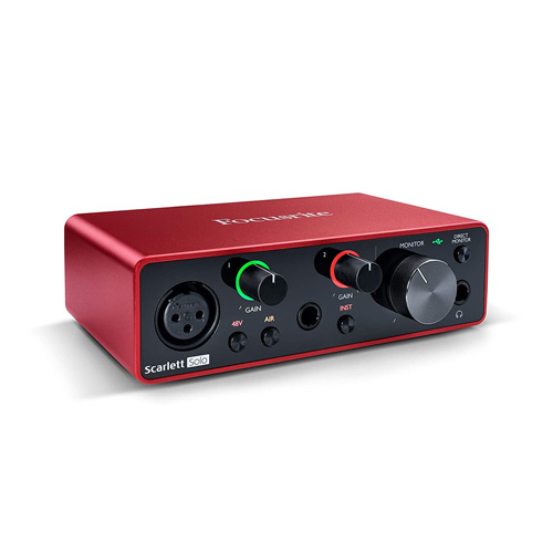 Focusrite Scarlett Solo 3rd Gen USB Audio Interface with Pro Tools India